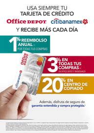 Usa siempre tu tarjeta de crédito Office Depot Citibanamex