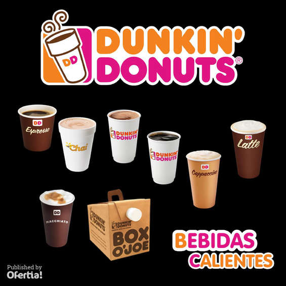 Ofertas de Dunkin' Donuts, Bebidas Calientes