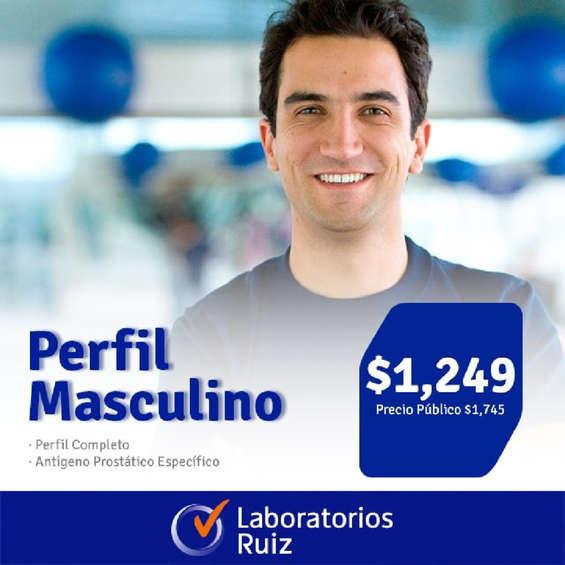 Ofertas de Laboratorios Ruiz, Perfil Masculino