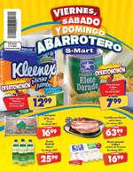 Ofertas de S-Mart, Viernes, sábado y domingo abarrotero- Díptico Lincoln, Concordia y Fresnos