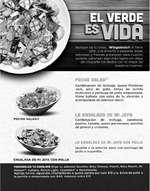 Ofertas de Las Alitas, Menú