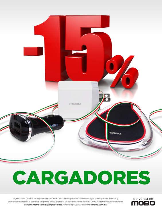 Ofertas de Mobo, 15% de descuento en cargadores