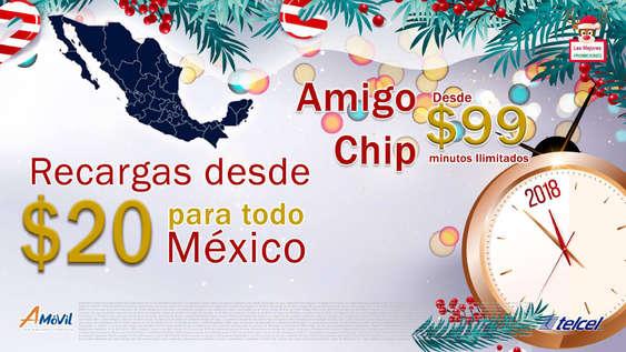 Ofertas de A-Móvil, Recargas y Amigo Chip