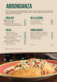 Menú Italiannis