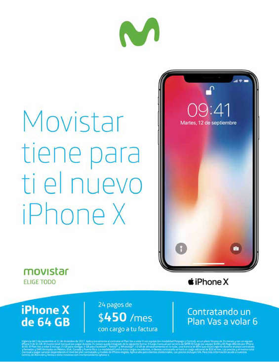 Ofertas de Movistar, Movistar tiene para ti el nuevo iPhone X