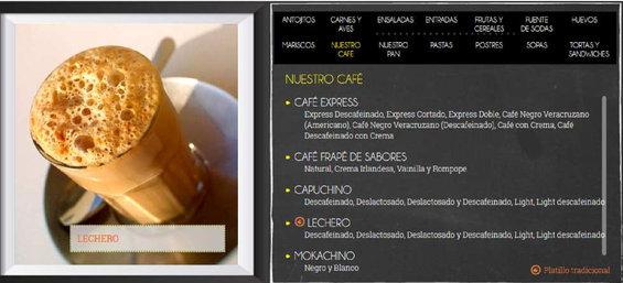Ofertas de La Parroquia de Veracruz, Menú