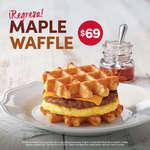 Ofertas de Tim Hortons, Maple Waffle