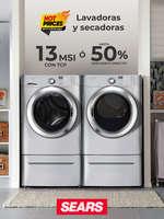 Ofertas de Sears, Lavadoras y Secadoras