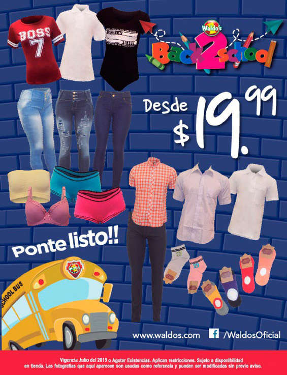Ofertas de WALDO´S, Back to school