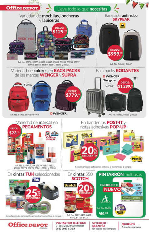Ofertas de Office Depot, Felices Fiestas Patrias