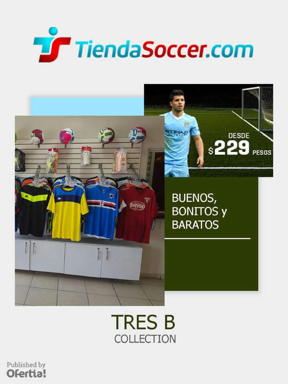 Ofertas de Tienda Soccer, Triple b