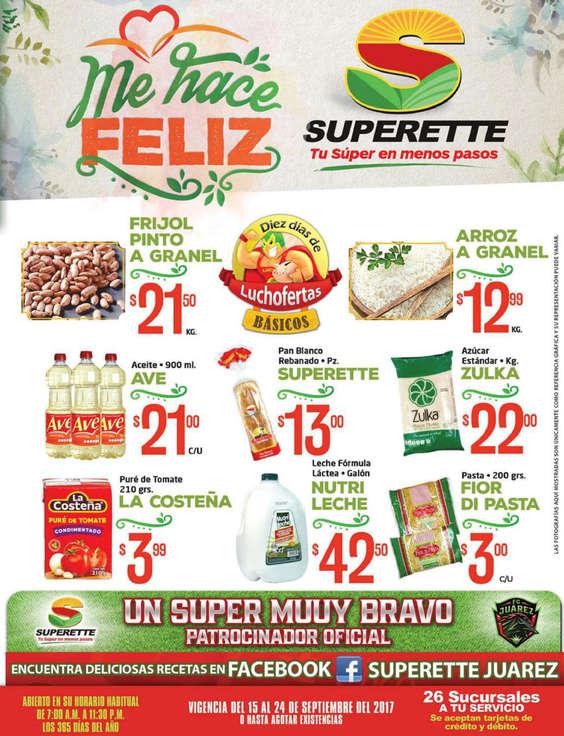 Ofertas de Superette, Folleto quincenal