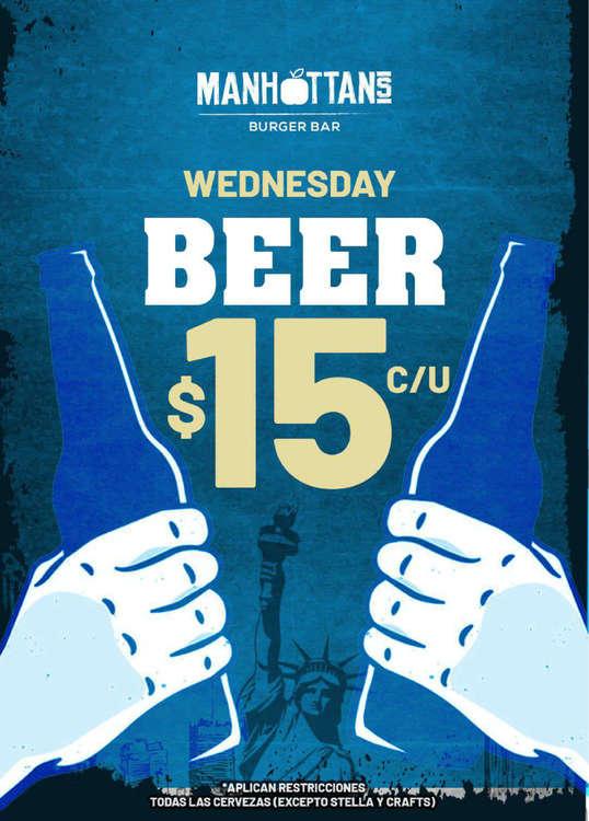 Ofertas de Manhattan's, Miércoles de cerveza
