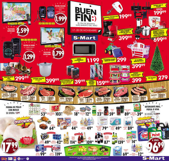 Ofertas de S-Mart, Buen Fin - Plana Reynosa