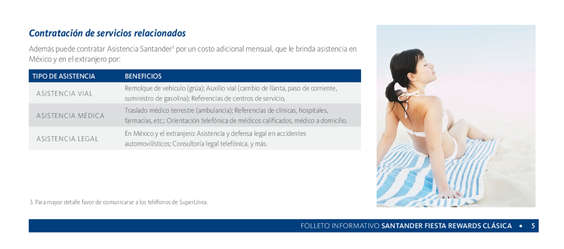 Ofertas de Santander, Folleto Fiesta Rewards Clásica
