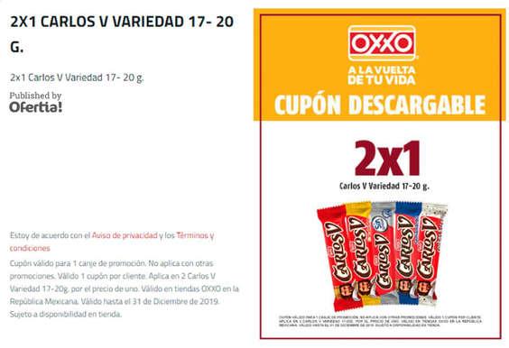 Ofertas de OXXO, 2 x 1 Carlos V - Variedad