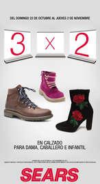 3x2 en calzado