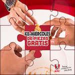 Ofertas de KFC, Ke Miércoles de Piezas Gratis