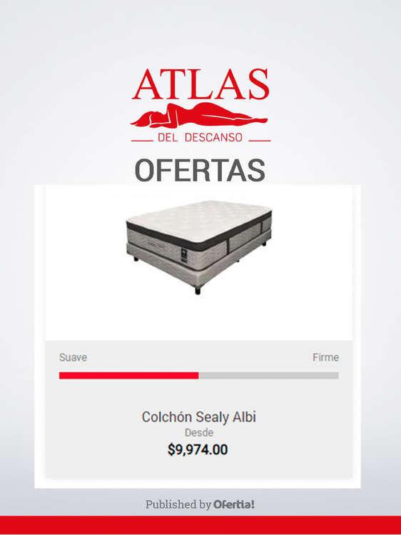 Ofertas de Atlas Del Descanso, Colchón Sealy