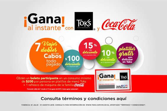 Ofertas de Toks Restaurante, Cupón TOKS y Coca Cola
