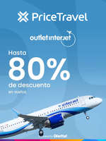 Ofertas de Price Travel, Outlet Interjet Hasta 80% de descuento en vuelos