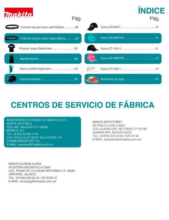 Ofertas de Makita, Catálogo de publicidad