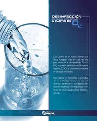Desinfección de aguas con ozono a partir de O2