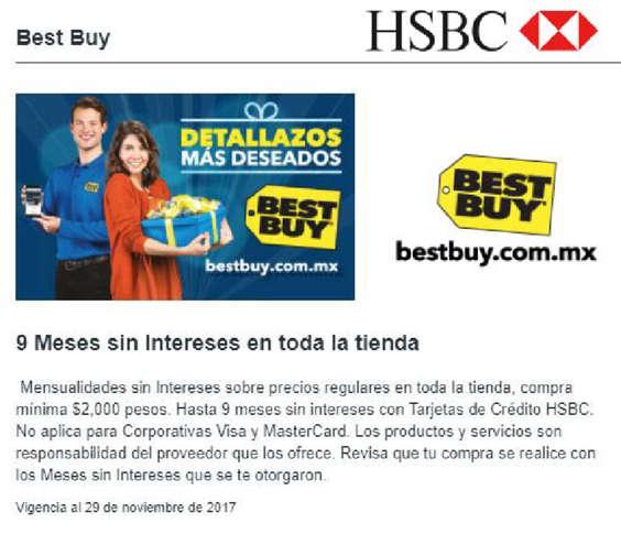 Ofertas de HSBC, Promoción Best Buy