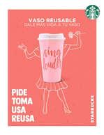 Ofertas de Starbucks, Vaso reusable rosa