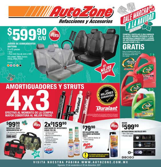 Ofertas de AutoZone, Folleto NOV - DIC