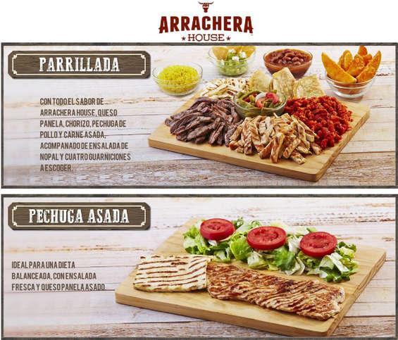 Ofertas de Arrachera House, Menú