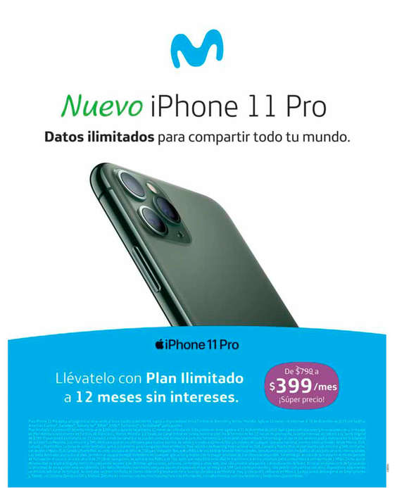 Ofertas de Movistar, Nuevo iPhone 11 Pro