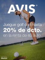 Ofertas de Avis, Golf hasta con 20% de descuento