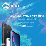 Ofertas de AT&T, iPhone XR desde $280 mensuales