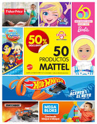 Mattel: 50% de descuento